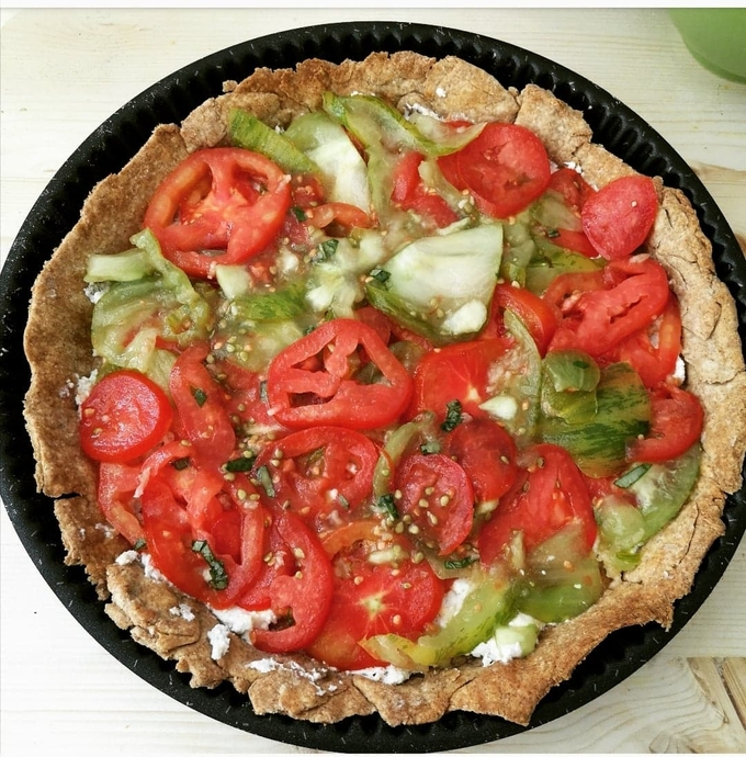 featured image thumbnail for post Tarte aux tomates multicolores